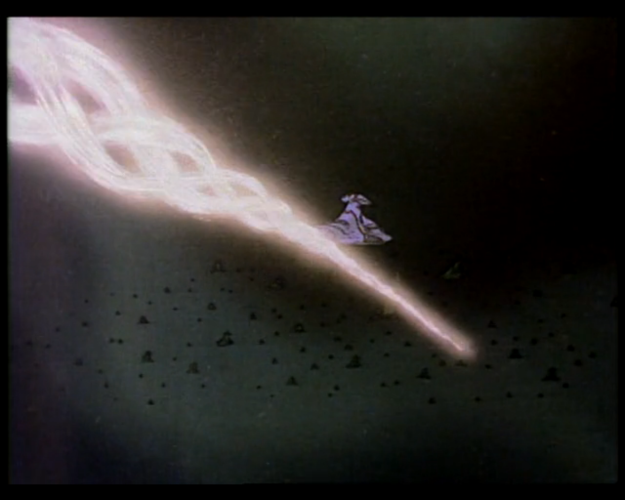 The Yamato firing at Domel's fleet.